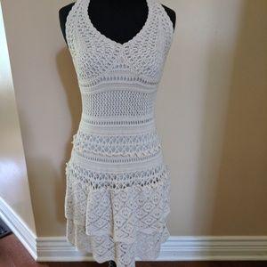 Moda international crochet sundress dress ruffle